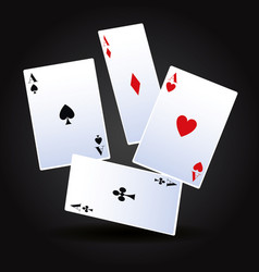 poker cards game vector image