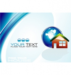 Real estate agency business card vector