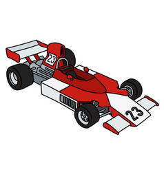 red and white racecar vector image
