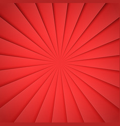 red rays in paper style background for desifn vector image