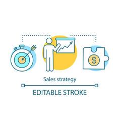 Sales strategy concept icon vector