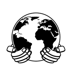 save the planet isolated icon vector image