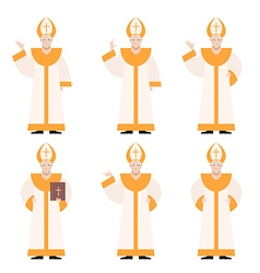 Set of Popes vector