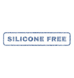 Silicone free textile stamp vector