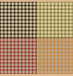 Small fall plaids vector