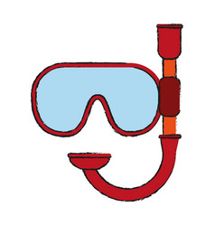 snorkel mask icon image vector image