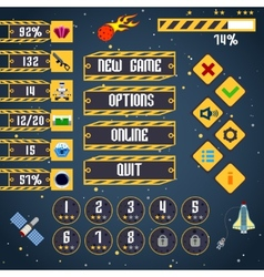 Space game interface vector image