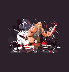strong norse warrior vector image