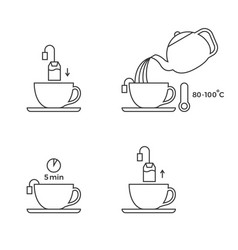 tea preparation for use in packaging vector image