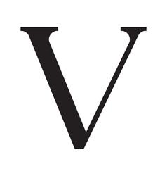 The vintage style letter v vector