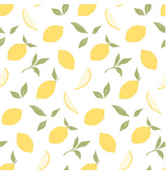 trendy seamless pattern with hand drawn lemons vector image