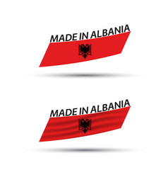 two modern colored flags albania vector image