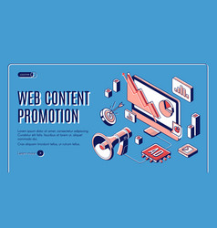 web content social media promotion web banner vector image