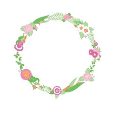 Wedding colorful flower Wreath vector