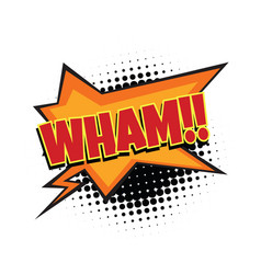 wham comic word vector image