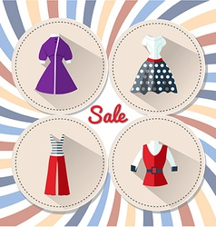 Womens clothing in retro 2 vector image