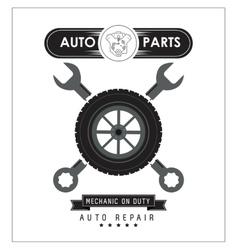 Wrench icon Auto part design graphic vector image