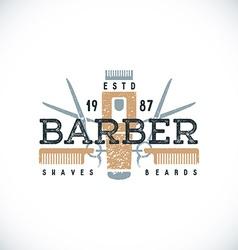 color barber shop sign template vector image vector image