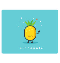 con of pineapple fruit funny cartoon character vector image