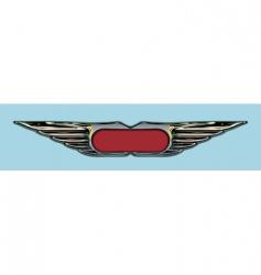 grunge badge vector image