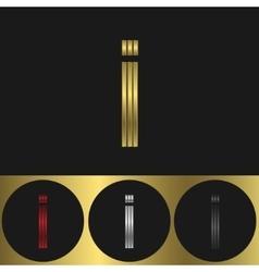 I Letter logo vector image