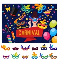 Welcome To Carnival Concept vector image vector image