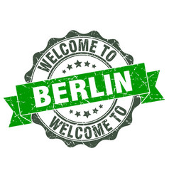 berlin round ribbon seal vector image