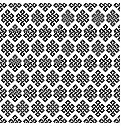 black and white endless knot seamless pattern vector image
