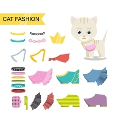 Cat fashion icon vector image vector image