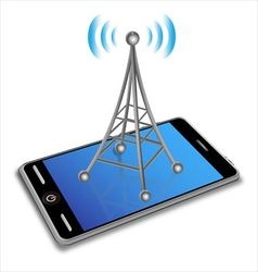 Communication on the smartphone screen vector image