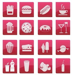 food icon glossy style vector image