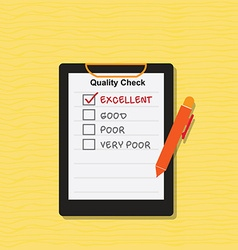 Quality Check vector image vector image