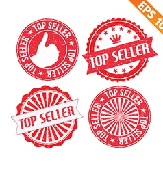 Stamp sticker top seller collection - - EPS vector image vector image