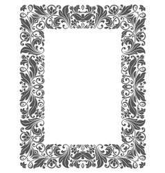Vintage frame with floral elements vector