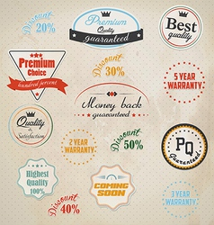 badge and labels vector image