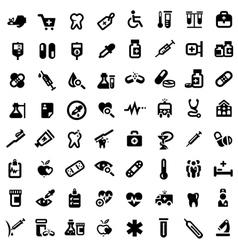 big medical icons set vector image vector image