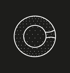 Symbol of a zorbing ball icon on black background vector