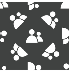 Two people pattern vector image