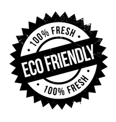 Eco friendly stamp vector