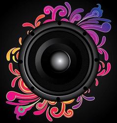 my speaker with flower behind vector image vector image