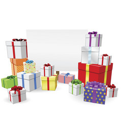 presents and sign concept vector image
