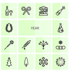 14 year icons vector