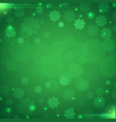 a st patricks day green clover leaves vector image