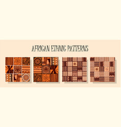 African ethnic pattern a set of patterns in the vector