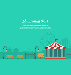 Amusement park background with ornament vector