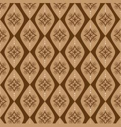 beautiful motifs design indonesian batik vector image