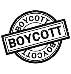 Boycott rubber stamp vector image