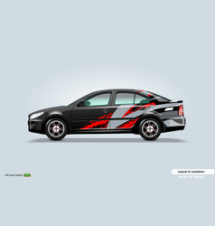 Car decal wrap design with abstract stripe theme vector