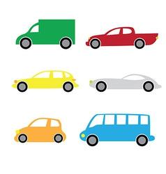 Cartoon cars 2 vector
