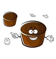 Cartoon rye bread character on white vector image